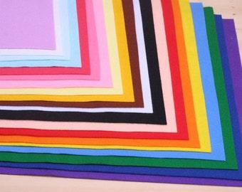 22 Color Set of Soft Felt