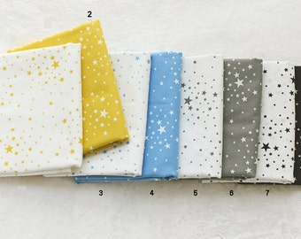 Cotton Fabric Star in 8 Colors By The Yard