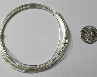 Sterling Silver Wire, 22 Gauge, Half Hard or Soft, Round, 3 Feet