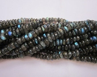 "13""labradorite 8mm- 9mm rondell gemstone beads loose best quality"