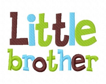 Little Brother Applique Machine Embroidery Design 4x4 and 5x7