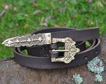 BORRE Leather VIKING BELT Replica from Norway Xth Century