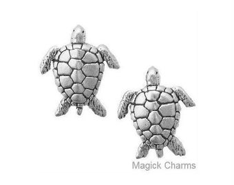 Sea TURTLE EARRINGS Post Stud .925 Sterling Silver