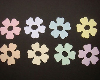 50 Pastel sizzix Flower die cuts for cards/toppers - cardmaking scrapbooking