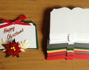 15 Christmas Open Book die cuts for festive christening religious sympathy cards toppers cardmaking scrapbooking craft