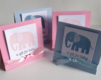 "x 4 multi pack Cute New Baby cards 3"" x  3"" with envelopes * mixed/baby boy/baby girl * with envelopes"