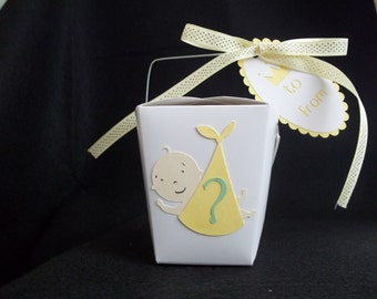 10 - Baby in a Blanket Chinese Take-Out Favor Boxes - Gender Reveal Baby Shower Favor