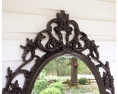 Barqoue Mirror, Oil Rubbed Bronze Bathroom Mirror Shabby Chic, Ornate Mirror, Large Wall Mirror Custom Paint