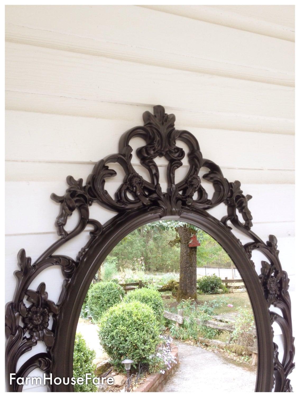 Bronze Mirror Bathroom Oval Mirror Etsy