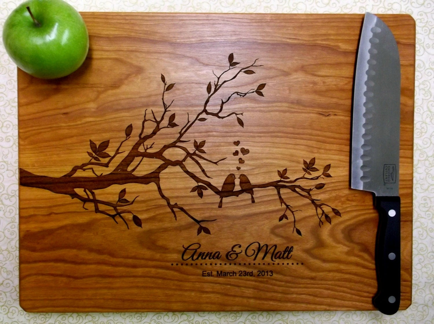 Personalized Cutting Board Custom Cutting Board Engraved Wood