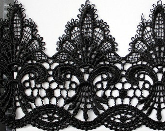 11.5cm Black lace trim for DIY sewing,white lace trim