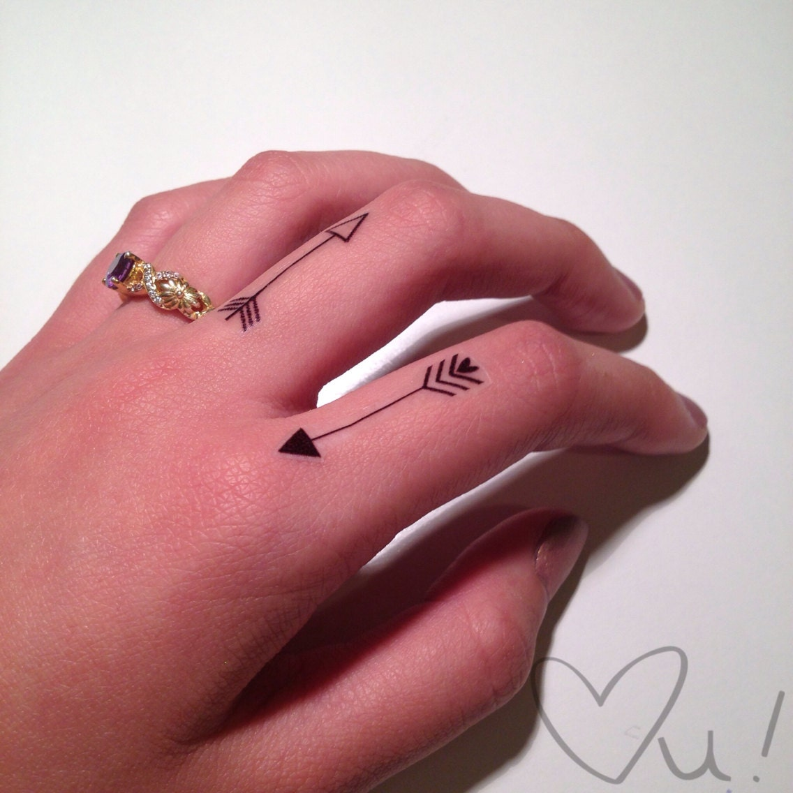 finger temporary tattoos. Black Bedroom Furniture Sets. Home Design Ideas
