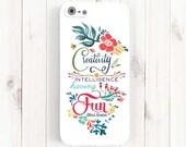 Creativity Quote iPhone Case, Creativity is Intelligence Have Fun, Albert Einstein Quote, iPhone 5 5C 5S 6 Plus Case, Galaxy S3 S4 S5 Qt20