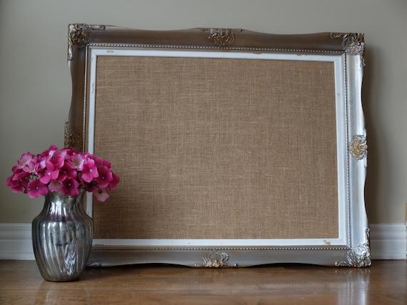 custom framed corkboard burlap cork board escort cards wedding. Black Bedroom Furniture Sets. Home Design Ideas