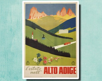 ALTO ADIGE Italy Vintage Travel Poster 1940 - SG2363