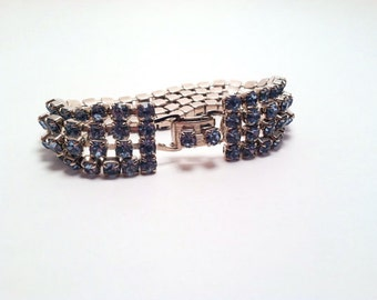 Vintage Hollywood Glam Rhinestone Bracelet