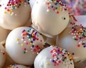 2 Dozen Cake Batter Balls Vanilla, Baby Shower, Gender Reveal Party, Favors