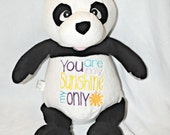Sugar Lump the Panda Cubbie - Personalization of your choice