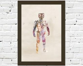 0039 Dr Who Cyberman A3 Wall Art Print Multiple Sizes