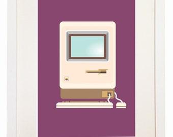 Macintosh 512K - You Can Include White Wood Frame - Apple Computer - Steve Jobs Mac Plus