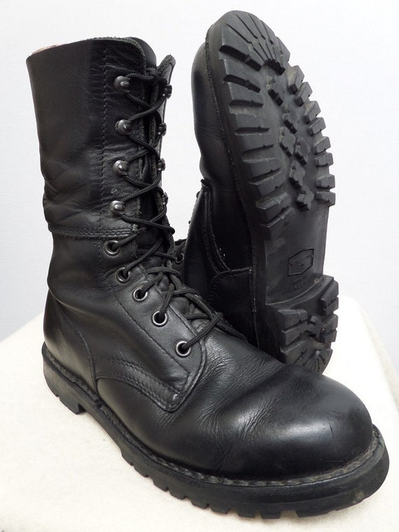 austrian army boots black leather paratrooper by