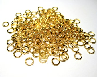 Gold Plated Open Jump Rings 5mm 21ga (No.255)