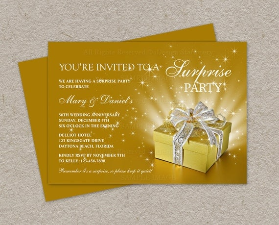 Cheap 50th Wedding Anniversary Invitations: Items Similar To 50th Wedding Anniversary Invitation