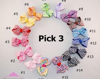 3 Hair Bows - (1 DOLLAR each), girl bows, girl hair bows, baby girl hair bow, big bow for hair, baby girl bow, toddler hair bows B302