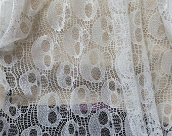 Skull lace fabric, Skull fabric, Dem Bone fabric, vogue lace fabric, Halloween fabric, Halloween party, Steampunk fabric by the yard sk51901
