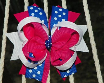 Pink/Blue Stacked Bow