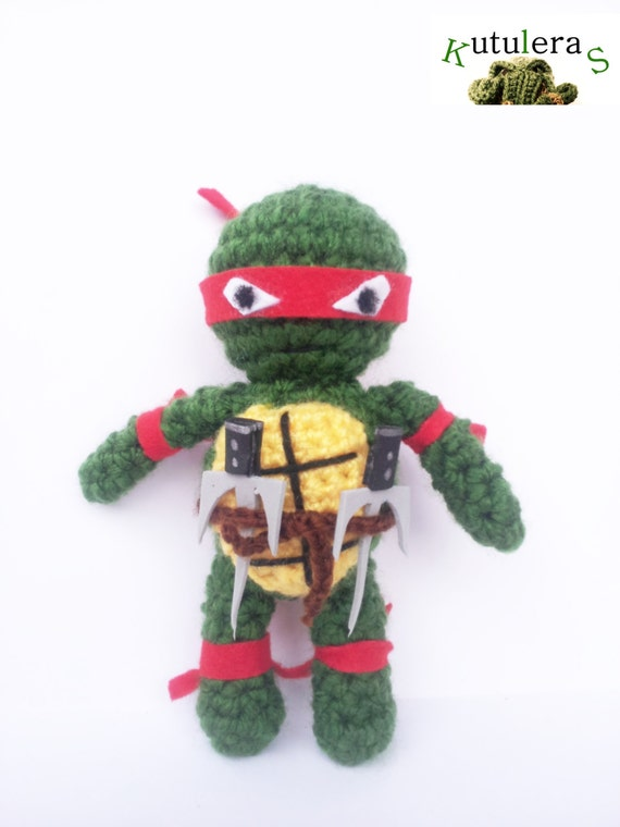 Amigurumi Ninja Turtle : RAPHAEL NINJA TURTLE mutant tennage awesome leonardo by ...
