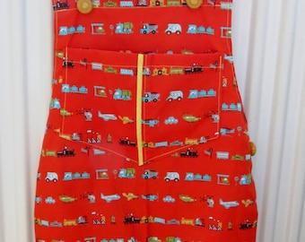 children cath kidston transport print dungarees 12-18 month