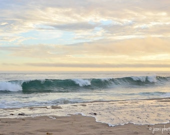 California Crystal Cove Beach Photography - Dreamy Sunset Ocean Photography - Instant Digital Download Art Photography