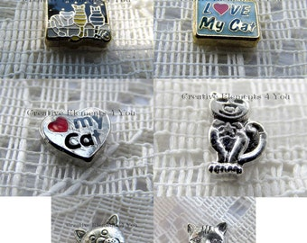 Cat Lover Memory Locket Charms