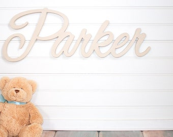 Nursery name sign Baby Name Plaque Large PAINTED Personalized nursery name baby name wall hanging nursery decor wooden wall art above a crib