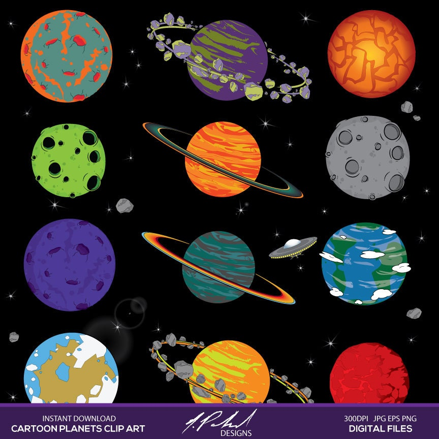 the 9 planets clip art - photo #37