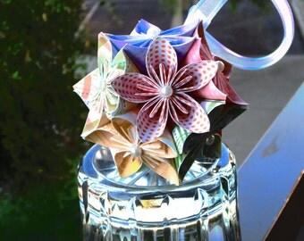 Multi-Patterned Kusudama - Paper Flower Ball Ornament