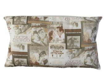 Cinema classic films Cushion. Insert included.