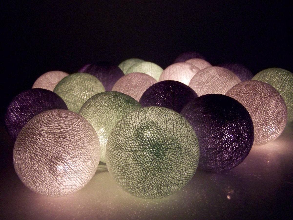 lichterketten aus baumwollkugeln in 9 farben 20 kugeln aus baumwolle 7 cm. Black Bedroom Furniture Sets. Home Design Ideas