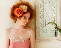 Pink Midi Dress / Baby Pink Knee Length Dress / Crochet Dress / Romantic Dress / Sleeveless Dress / Spaghetti Shoulder Straps Party Dress