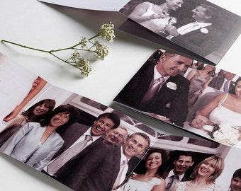 A Thousand Words - Tri-fold Thank you Card - Custom - Photo - Wedding - Birthday - Trifold