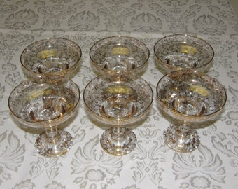 Vintage Sherbert/Champagne Stemware From Italy (Venetian)
