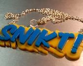 Snikt! Wolverine Acrylic Necklace