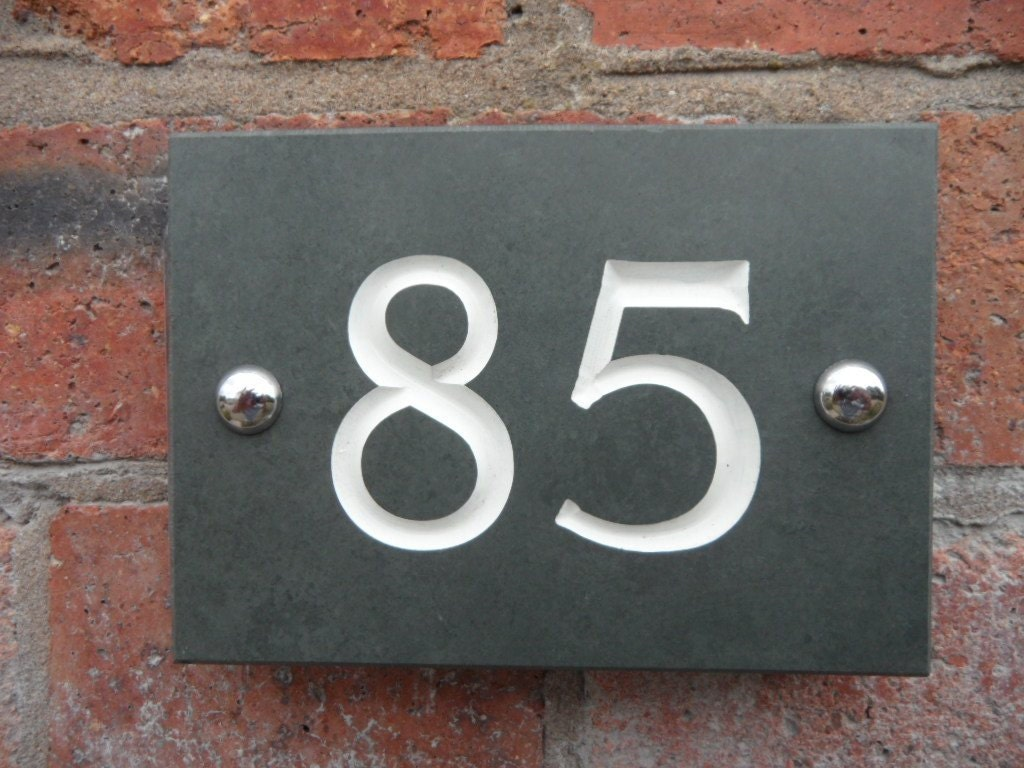 Engraved Slate House Number
