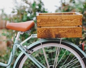 Handmade Wood Bike Crate