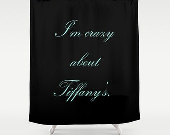 Shower Curtain Breakfast At Tiffany's - Breakfast at Tiffany's Decor - Teen Shower Curtain - Girls Shower Curtain - Breakfast at Tiffany's