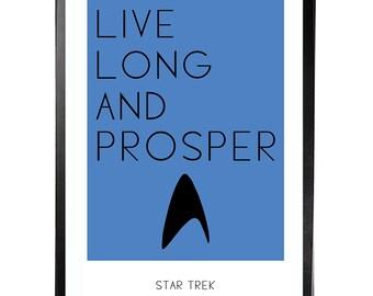 Star Trek  11x17 Print - Star Trek Spock Inspired Print - Star Trek Poster Print - Spock Star Trek  Print