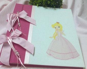 Princess album, Baby photo album, Baby shower or birthday gift, Baptism gift