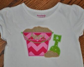 Sand Bucket Appliqued Shirt or Onesie