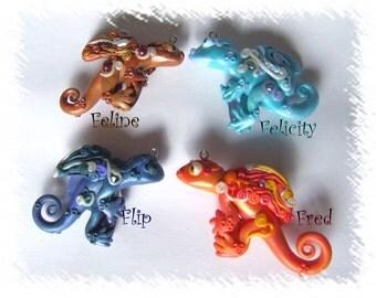 Elemental dragon pendant series